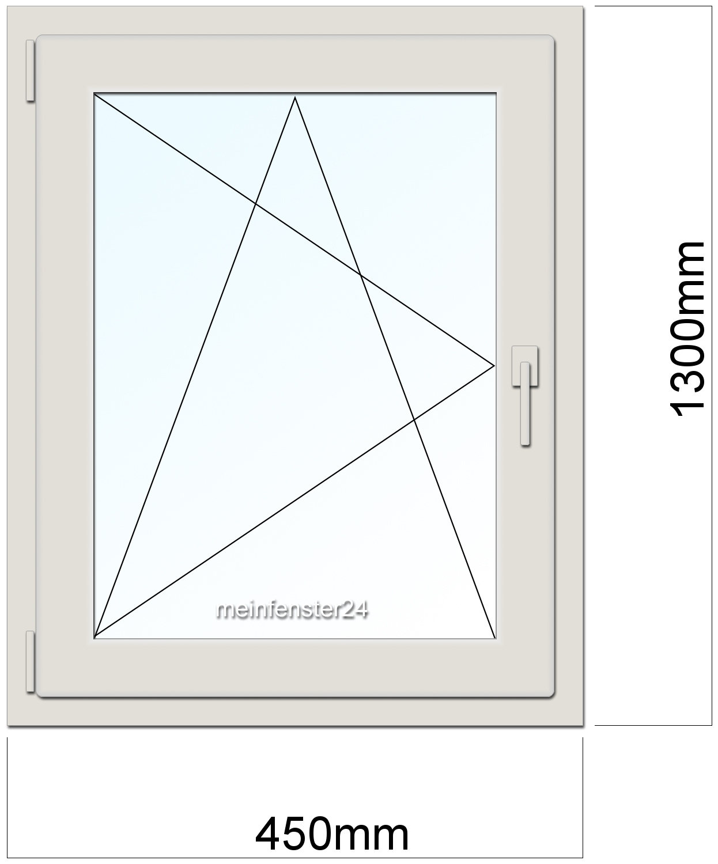 Fenstergrößen standardmaße  DRUTEX Kunststoff Fenster PVC B:450mm x H:1300mm T:70mm 2-fach ...
